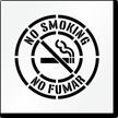 Bilingual No Smoking Floor Stencil with Graphic
