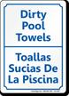 Bilingual Pool Area Sign