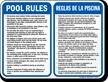 Bilingual Pool Area Rules Sign