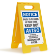 Bilingual FloorBoss XL™ Standing Floor Sign