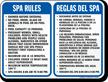 Bilingual Spa Sign