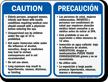 California Bilingual Spa Rules Sign
