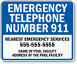 California Custom Emergency Telephone Sign
