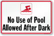 Pool Hours Sign for California