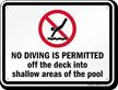 Connecticut No Diving Sign