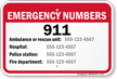 Custom Emergency Number Sign For Indiana
