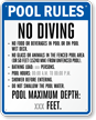 Custom Florida Pool Rules Sign
