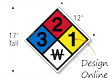 Custom NFPA Pool Chemical Sign For Oklahoma