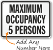 Custom Maximum Occupancy People Sign