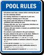 Custom Pool Rule Sign For South Carolina