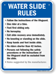 Custom Water Slide Rules Sign For Arizona