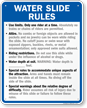 Custom Water Slide Rules Sign For Iowa