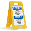 Personalized Bilingual Notice Free-Standing Sign