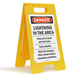 Danger Lightning In Area Standing Floor Sign