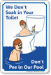 Dont Pee In Pool, Humorous Pool Sign