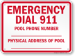North Carolina Emergency Dial 911 Sign