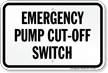 Virginia Emergency Pump Cut Off Switch Sign