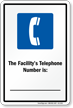 Facility Telephone Number Maryland Pool Sign
