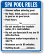 Florida Spa Pool Rules Sign