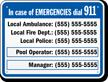 Georgia Custom Emergency Telephone Sign