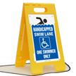 Handicapped Swim Lane One Swimmer Only Floor Sign