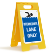 Intermediate Lane Only Floor Sign
