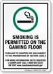 Smoking Permitted Visit Www.Iowasmokefreeair.Gov Sign