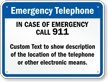 Kansas Custom Emergency Telephone Sign