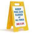 Keep Pool Gate Closed At All Times Floor Sign
