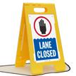 Lane Closed Floor Sign