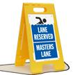 Lane Reserved Masters Lane Floor Sign