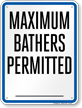 Missouri (St. Louis County) Bather Load Capacity Sign