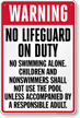 Missouri No Lifeguard On Duty Pool Sign