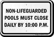 Missouri Pool Hours Sign