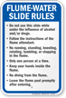 Montana Flume Water Slide Rules Sign