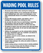 Wading Pool Rules Sign for North Jersey