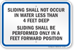New York Deck Slide Rules Sign