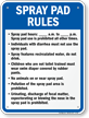 Spray Pad Rules Sign for New York
