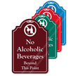 No Alcoholic Beverages ShowCase Sign