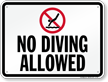 No Diving Allowed Pool Rule Sign