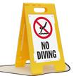 No Diving Floor Sign