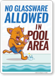 No Glass Pool Rules Sign