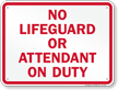 Oklahoma No Lifeguard On Duty Sign
