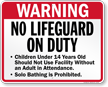 Nevada No Lifeguard On Duty Pool Sign