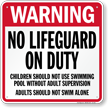 North Carolina No Lifeguard On Duty Sign