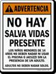 Advertencia No Hay Salva Vidas Presente Spanish Sign