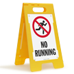 No Running Floor Sign