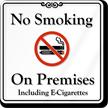 ShowCase™ E-Cigarettes Prohibited Sign
