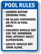 Pool Rules Sign for North Carolina