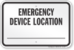 Ohio Emergency Device Location Sign